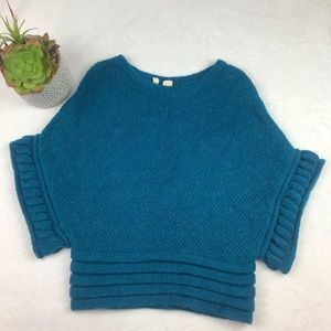 Moth Anthropologie Sweater Mohair Blend Turquoise